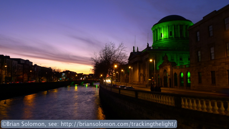 Irish Four Courts along the River Liffey.