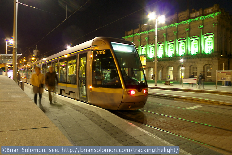 LUAS at Heuston Station.
