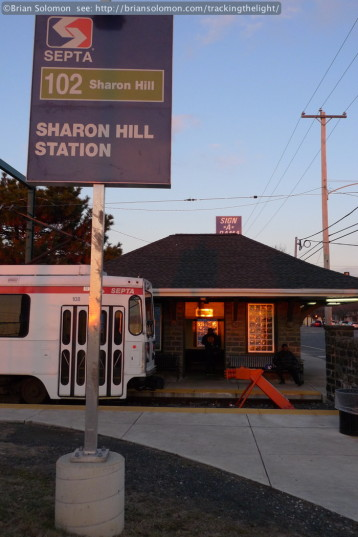 End of the Sharon Hill trolley line. Lumix LX3 photo.