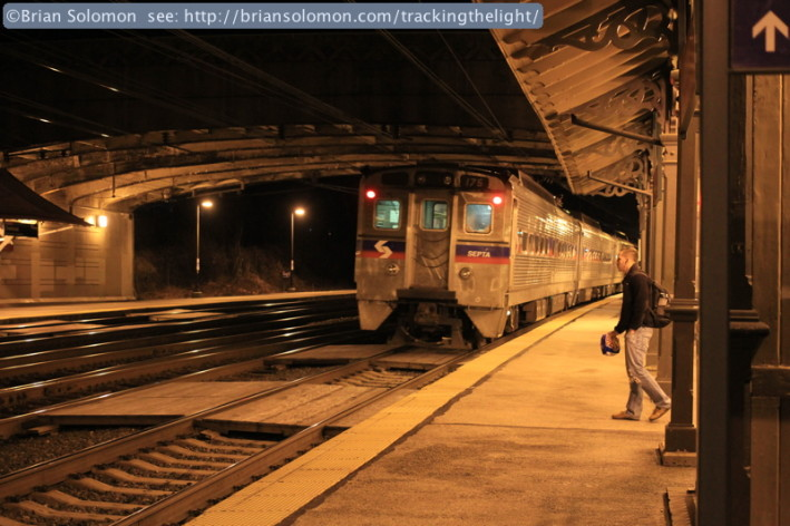 Overbrook station on the Main Line. Canon EOS 7D photo, with 40mm pancake lens.