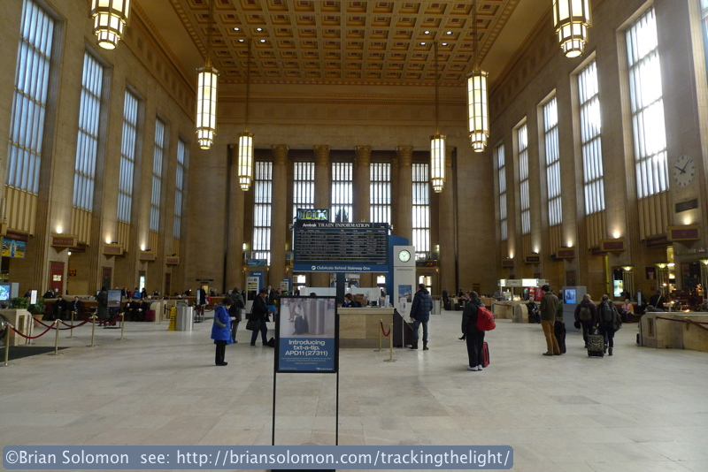30th Street Station, Philadelphia on the morning of January 23, 2014. Lumix LX3 photo.