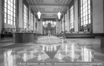 Omaha Union Station, exposed using a Contax G2 rangefinder fitted with a 16mm Hologon lens. Fuji 100 Acros black & white.