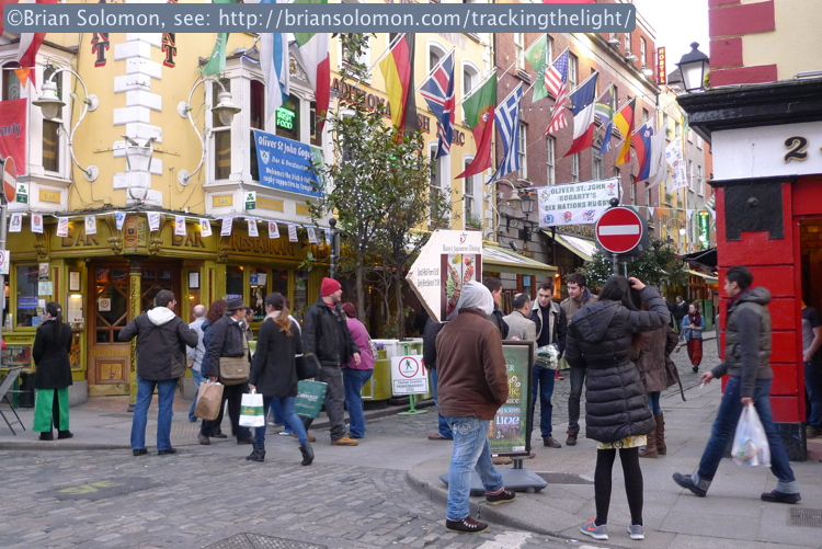 The ever going bustle on Temple Bar, March 2014.