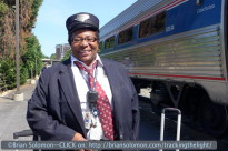 Number 80's conductor. Amtrak's crew was very friendly.