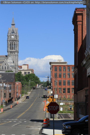 Holyoke City Hall rises above a sea of red brick. Canon EOS 7D photo.