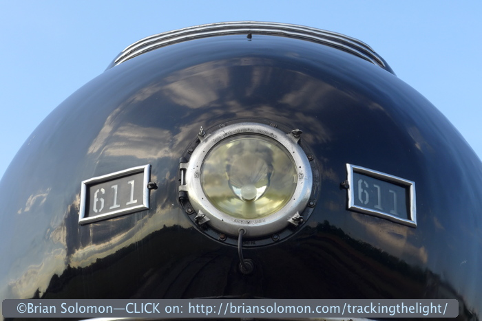 Nose view of one of America's most famous locomotives. Exposed with a Lumix LX-7.