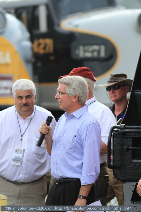 Norfolk Southern's Wick Moorman addresses Spencer. Canon EOS 7D with 200mm lens.