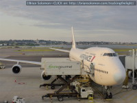 Air France 747 at Boston's Logan Airport on the previous evening.