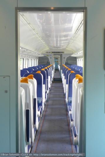 Irish Rail's Rotem-built Intercity Rail Cars are comfortable trains. Lumix LX7.