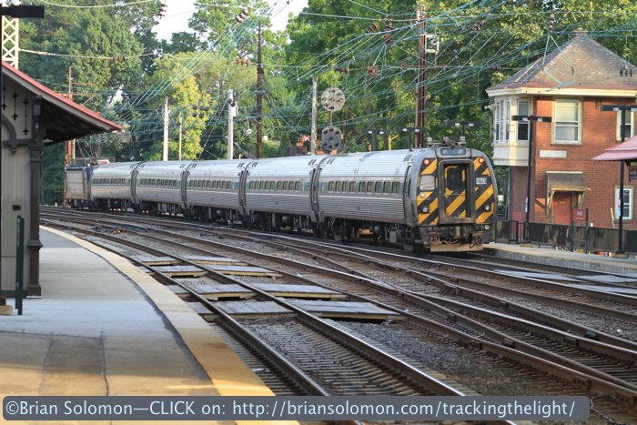 Cab car trailing. Remember the Metroliner? Long gone, but the cab cars survive—for now.