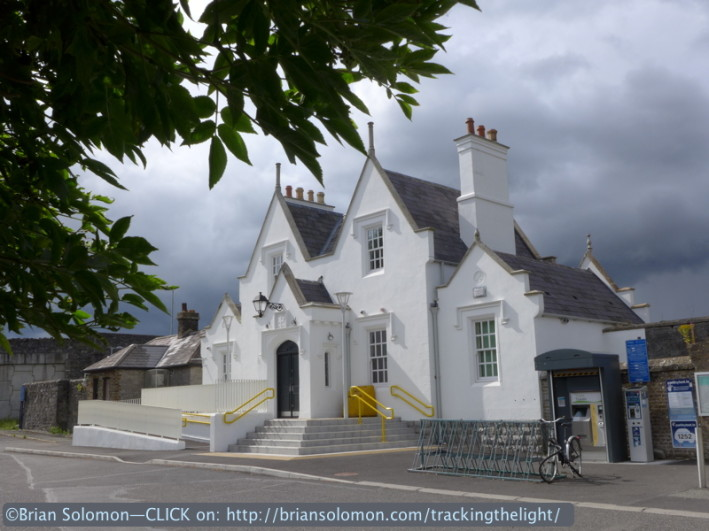Sallins station with a foreboding sky. An ill wind was blowing; beware beware! LX7 photo.