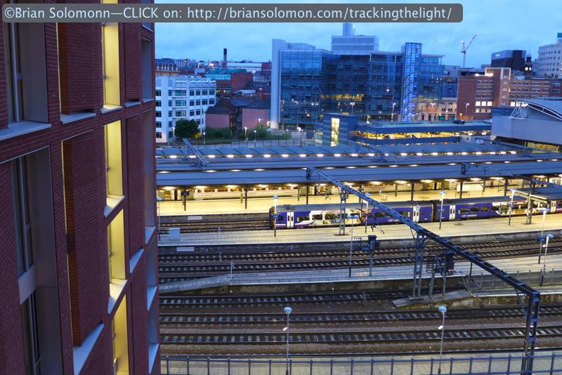 Dusk settles over Leeds. Lumix LX7 photo.