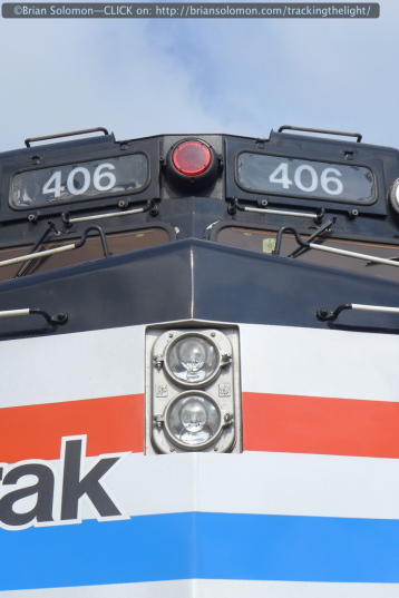 These days an Amtrak F40PH is a novelty. LX7 detailed view.