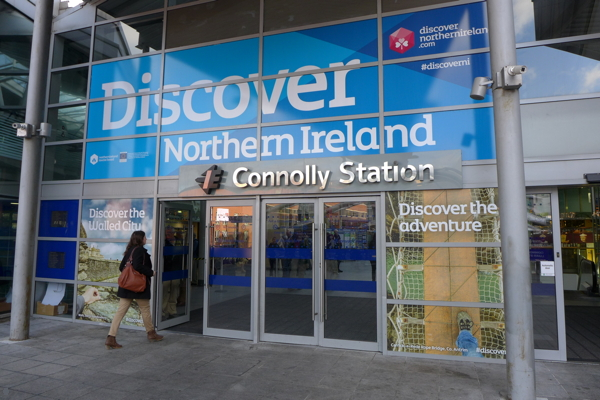 Dublin's Connolly Station is the terminus for the Enterprise, Ireland's only cross-border service. Lumix LX7 photo.