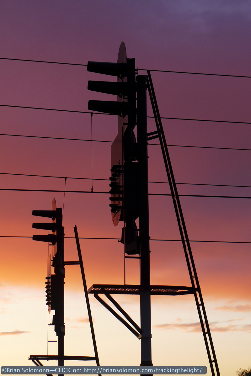 NS signals at sunset Berkel Enschot, Netherlands. August 2014.
