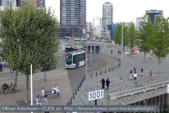 Number 7 tram terminus.
