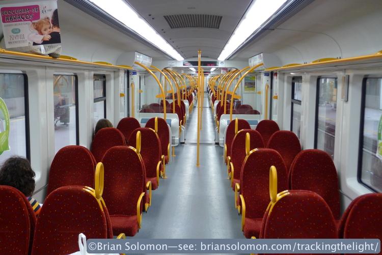 Train interior, Porto, Portugal. Lumix LX3 photo.