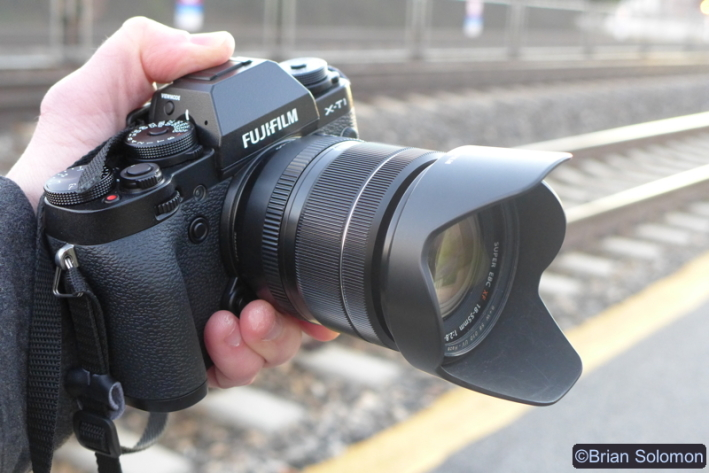 Fuji's X-T1 with 18-55mm lens. Exposed using a Panasonic LX7.