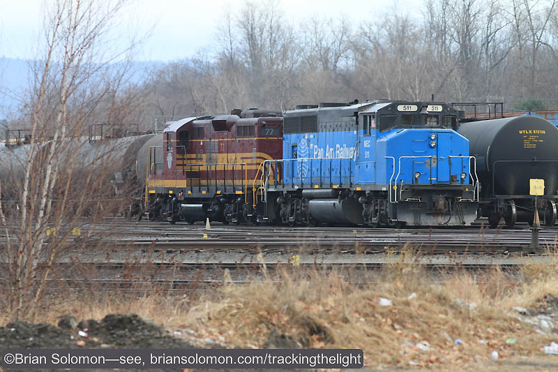 An added bonus were these two Pan Am locomotives at East Deerfield Yard.
