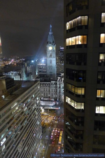Philadelphia City Hall at night. Lumix LX7 photo.