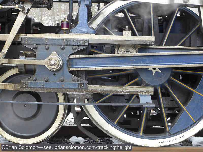 Detail view of Reading & Northern 425's crosshead. Exposed with a Lumix LX7.