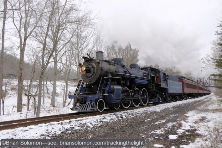 Reading & Northern 425 near Auburn, Pennsylvania. Fuji X-T1 with 18-55mm lens.