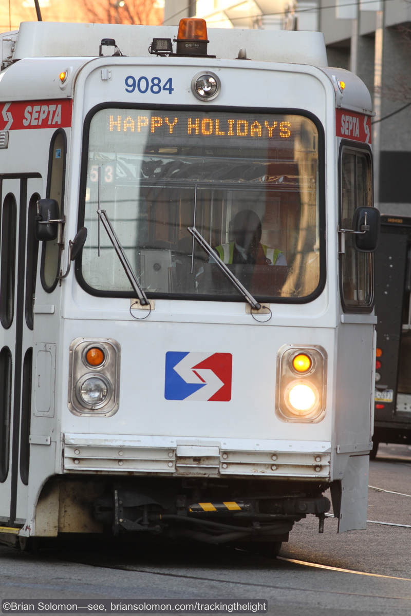 An in-bound SEPTA on 36th Street. Canon EOS 7D with 200mm lens.