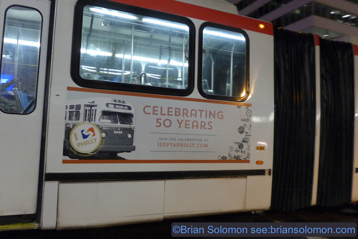 SEPTA's celebrathing 50 years. Our passes were valid on the buses, but we opted for an all-rail journey. Lumix LX7 photo.