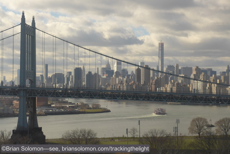 My view from the Hell Gate Bridge looking toward Manhattan.