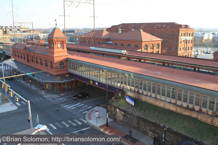 Completed in 1908, the former Pennsylvania Railroad station at Wilmington, Delaware was designed by Furness, Evans and Company, and is one of many railroad stations in the region attributed to the brilliance of architect Frank Furness. Exposed with a Canon EOS7D with 20mm lens.