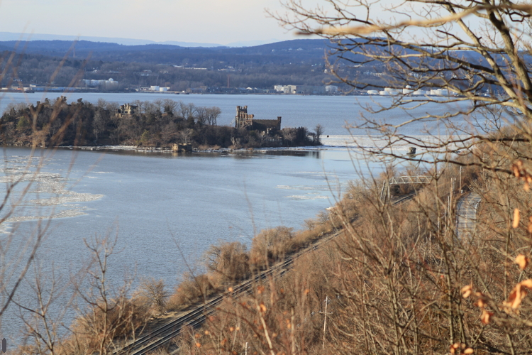 One of the Hudson's most iconic landmarks; Bannerman Castle—as viewed from Breakneck Ridge. The trees are taller than I remember.