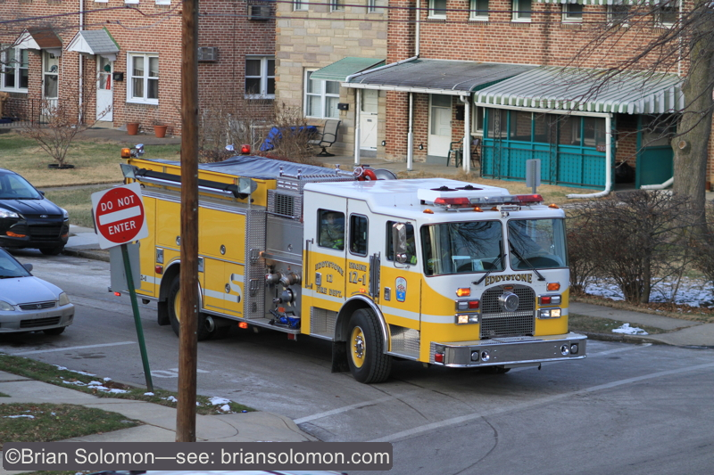 The local fire department had been tending to an incident nearby.