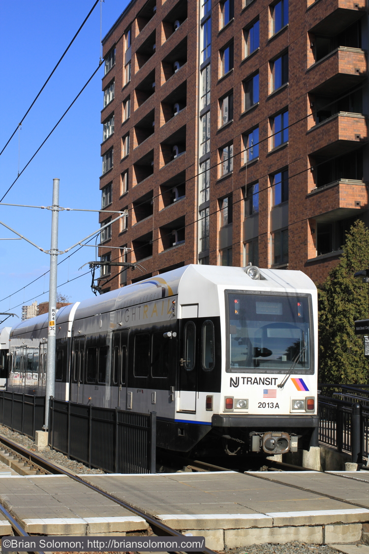 All along the line are modern buildings. I was pleased to find that ridership was very good, even during midday. This follows the idiom of: 'Build and they will come.'