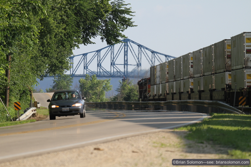 Trailing view of the same stack train; exposed my new EOS 7D with 400mm lens set at 235mm. ISO 200.