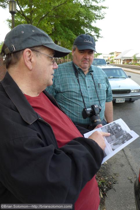 Doug elaborates on his book Santa Trains. Lumix LX7 photo.