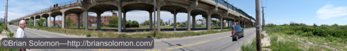 This is a strange place, devoid of people with a mixture of urban decay and encroaching beach. Panoramic composite exposed with a Fujifilm X-T1.
