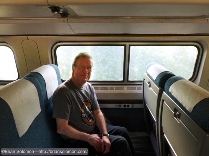 Richard J. Solomon on board train 495. . Lumix photo.